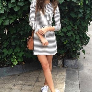 Topshop striped long sleeved cotton dress- Like 🆕